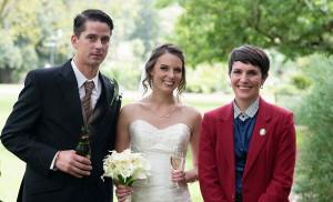 The wedding of Mark and Charlene Harris