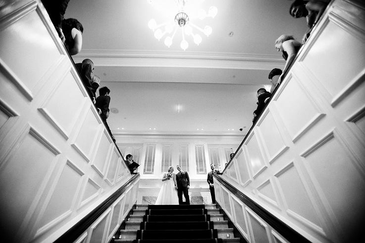 Kate and Ben - That fab staircase at Comme.
