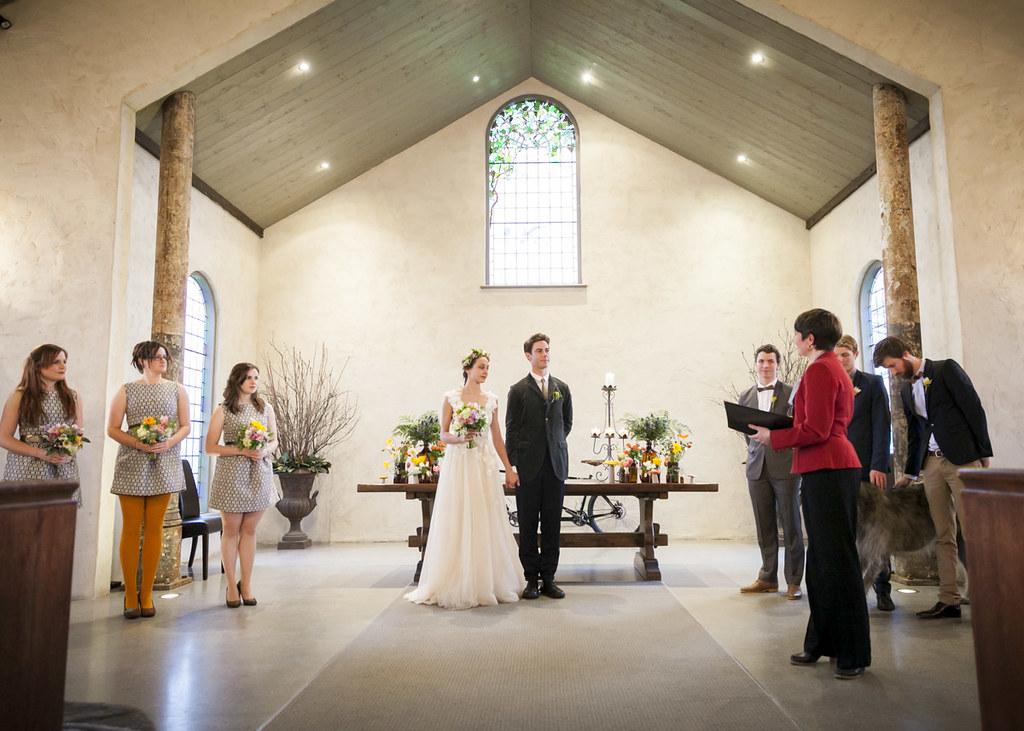 Dimity and Rudy - in the chapel at Stones of the Yarra Valley.
