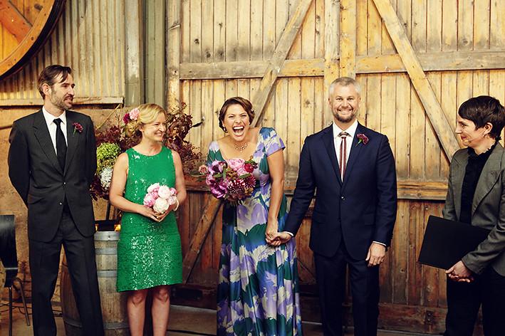 Gorgeous bridal party - Lyndal and John.