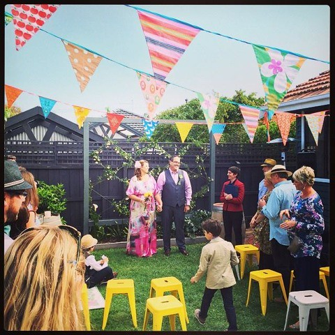 Regan & Simon surprise their party guests with a wedding!