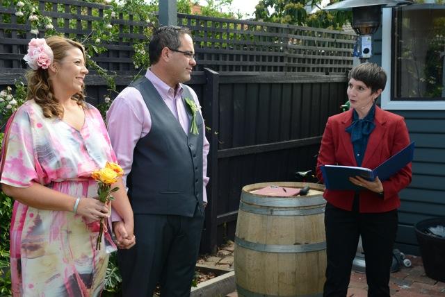 Regan & Simon - their backyard wedding in West Footscray