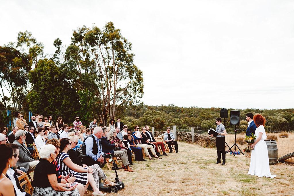 Kirri-Mae & Noel's ceremony in beautiful Glenluce, Central Victoria.