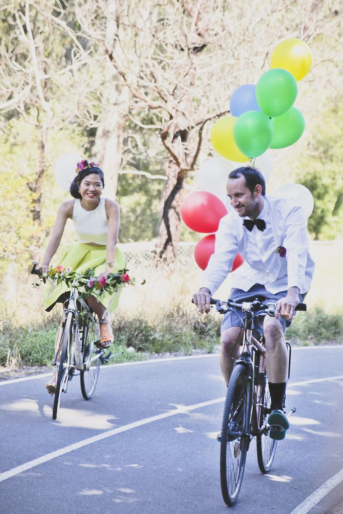 Mike & Fiona rock their two-wheeled entry! Collingwood Children's Farm (pic :Candid Captures)