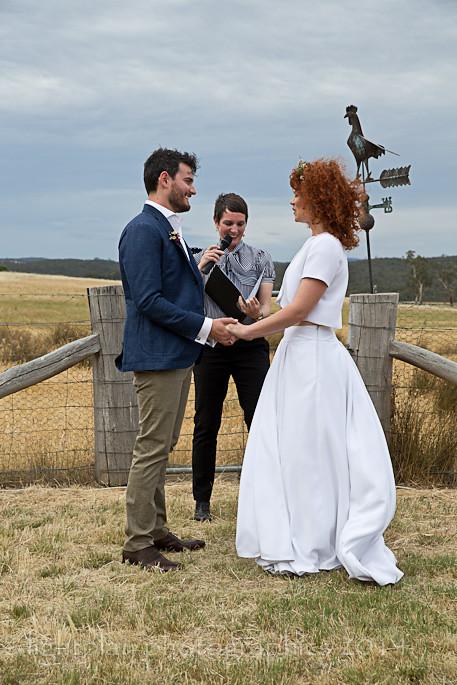 Kirri-Mae & Noel say their vows.