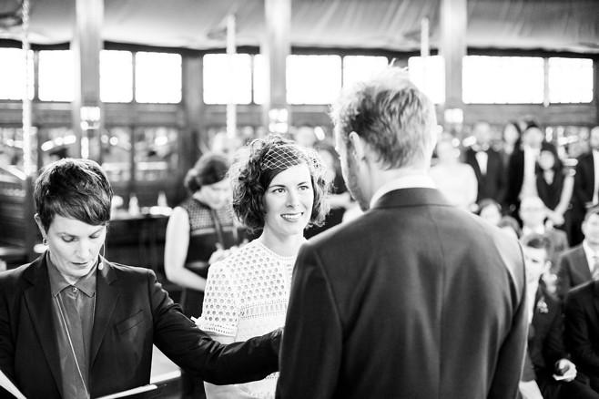 Louisa & Rob. Vow time. Pic: Circularink
