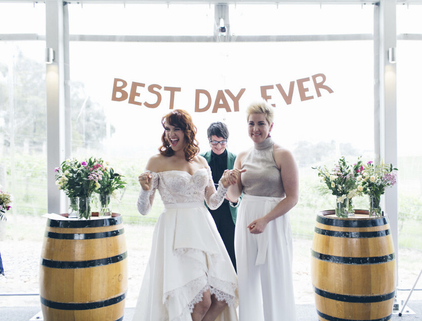 Vanessa & Bridie. Best Day Ever at the Balgownie Estate, Yarra Valley. LJM-Photography.