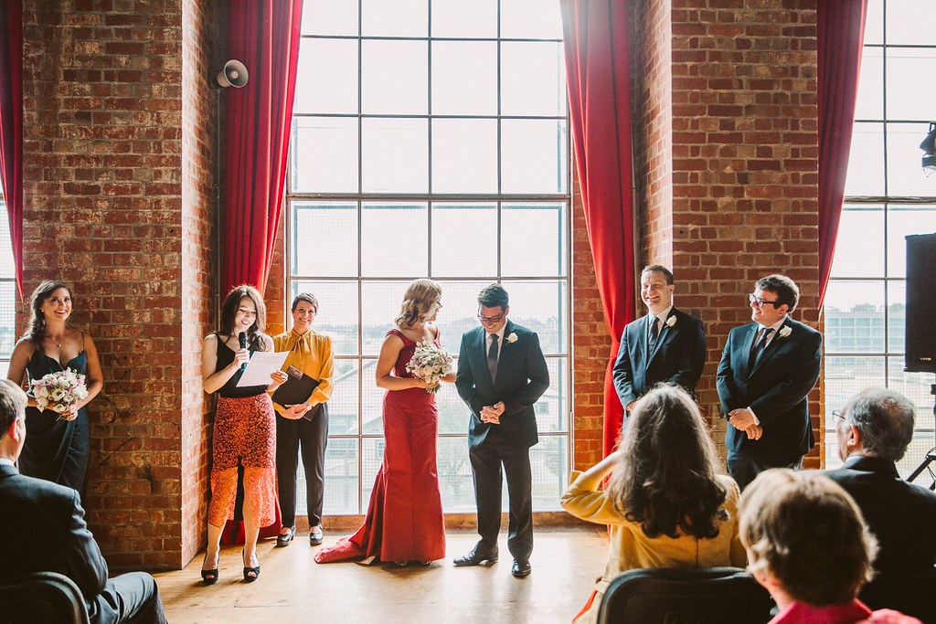 Bec & James at the Newport Substation. Fennel & Fox photography.
