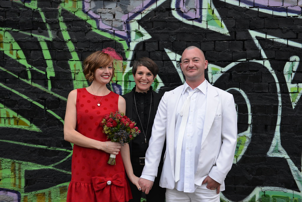 Carla and Alex (and proud celebrant).